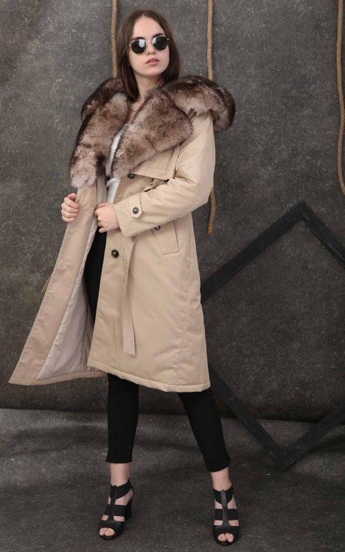 Стилно дълго тренч палто от непромокаем микрофибър